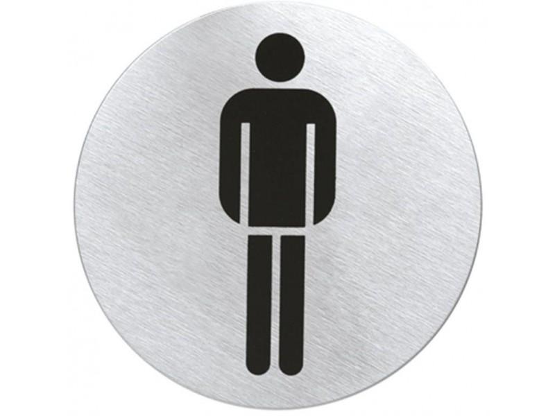 Stalowa tabliczka na drzwi - toaleta męska