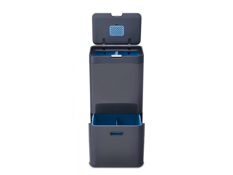 Pojemny kosz do segregacji śmieci z filtrem Intelligent Waste TOTEM 58 l