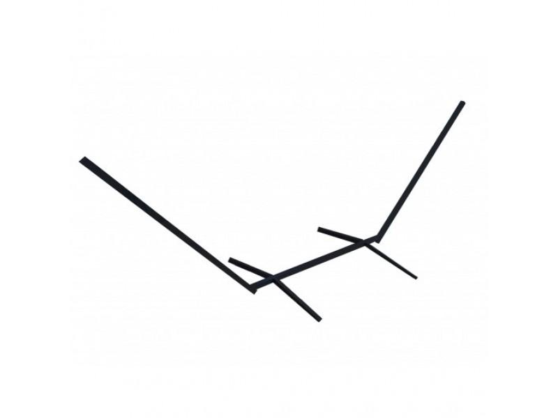 Solidny stelaż do hamaka ogrodowe, proste profile stalowe