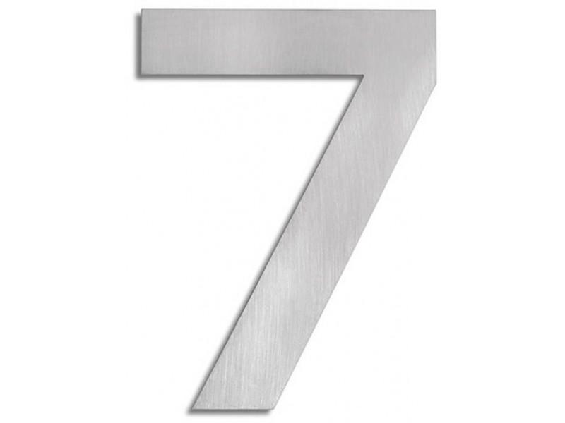 """Elegancka cyfra ze stali nierdzewnej, na dom lub ogrodzenie - """"7"""""""
