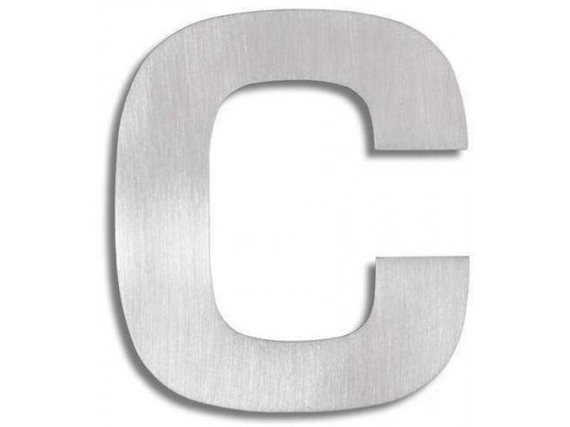 """Wyraźna litera ze stali nierdzewnej - """"C"""""""