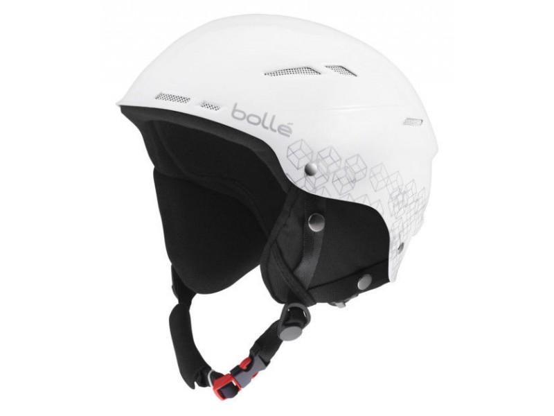 Bolle B-Rent Shiny White&Silver - kask narciarski dla kobiet w kolorze białym