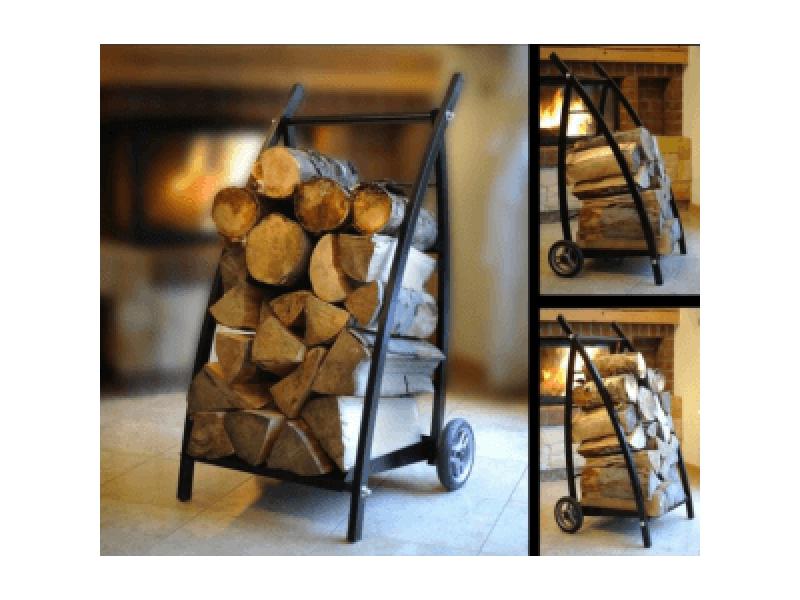 Wózek na drewno kominkowe i regał na drewno GRAB 2w1 HIT 2019