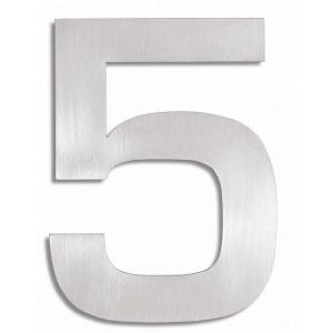 """Matowa, stalowa cyfra na ogrodzenie - """"5"""""""