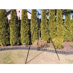 Funkcjonalny trójnóg ogrodowy 180 cm z ocynkowaną linką