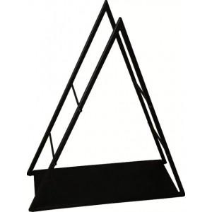 Trójkątny regał na drewno ze stalowymi profilami