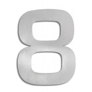 """Duża, stalowa cyfra na dom - """"8"""""""
