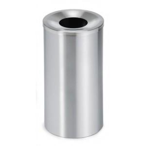 Kosz na śmieci / popielnica CASA wykonany z matowej stali nierdzewnej, 49 cm