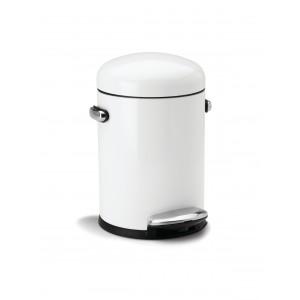 SIMPLEHUMAN Kosz na śmieci 4.5L pedałowy RETRO biały