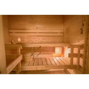 Mała sauna KLARA wewnętrzna na 2-4 osoby + instalacja gratis