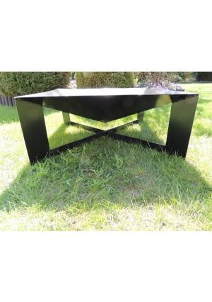 Kwadratowe palenisko ogrodowe 70x70 cm - idealne pod grilla lub ognisko