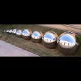 srebrne kule ogrodowe