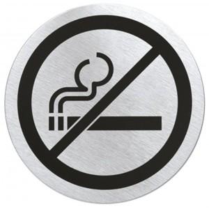 Matowa, stalowa tabliczka na drzwi - zakaz palenia