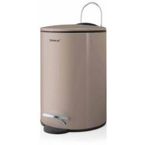 Designerski kosz na śmieci TUBO w kolorze taupe, pojemność 3 litry