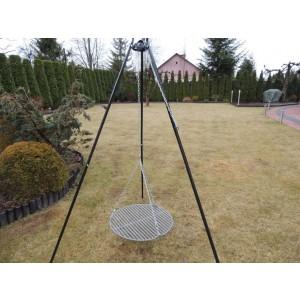 Grill ogrodowy z wysokim trójnogiem 180 cm i rusztem