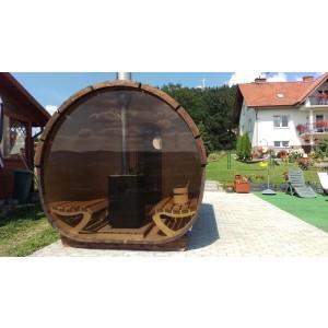Drewniana sauna ogrodowa S4 Panorama