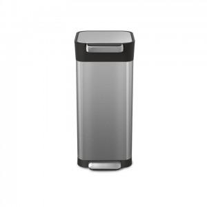 Stalowy kosz na śmieci z filtrem węglowym i systemem zgniatania śmieci, Intelligent Waste TITAN, 20 l
