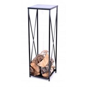 Wysoki regał na drewno kominkowe do salonu lub ogrodu