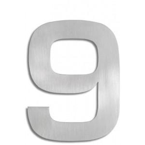 """Cyfra na dom ze stali nierdzewnej - """"9"""""""