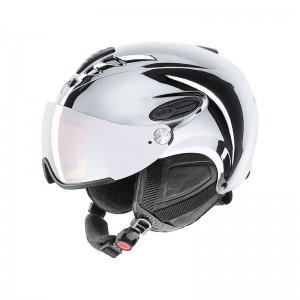 Kask narciarski Uvex Hlmt 300 chrome LTD z wizjerem i chromową powłoką