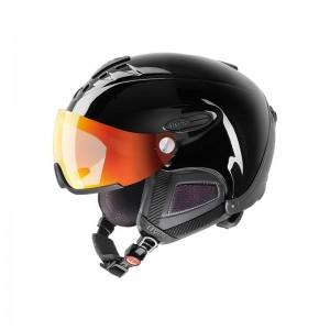 Nowoczesny kask narciarski Uvex Hlmt 300 visor z technologią Variomatic i Polavision