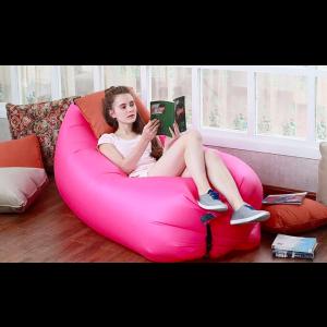 Sofa dmuchana, nylona i solidna kanapa.