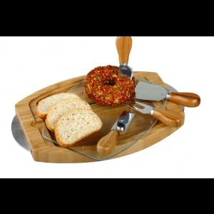 Zestaw - noże + deska do krojenia serów od DreamWood