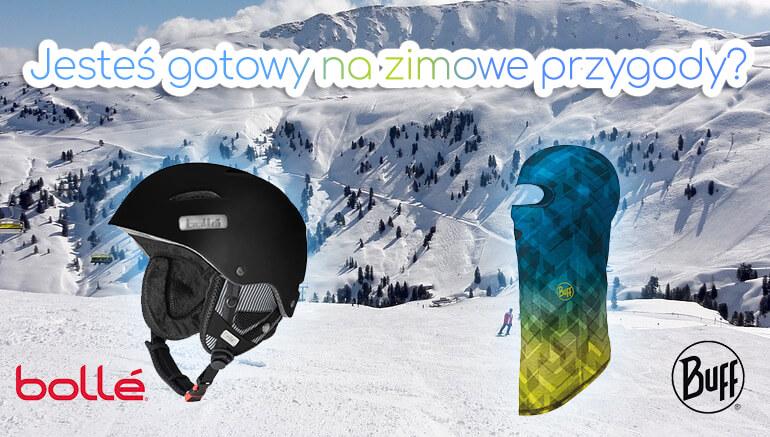Kaski narciarskie, kominiarki zimowe