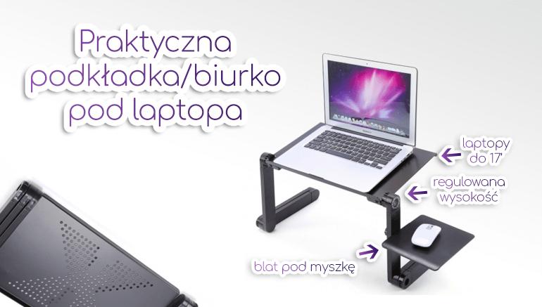 Podkładka pod laptopa, biurko rozkładane