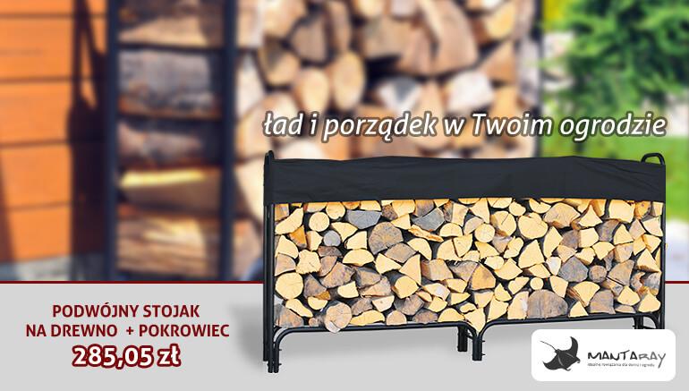 Stojak na drewno - Mantaray - duży stojak + pokrowiec