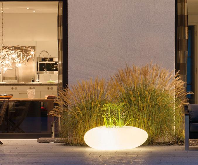 Donica ogrodowa Storus III z podświetleniem, marki Degardo