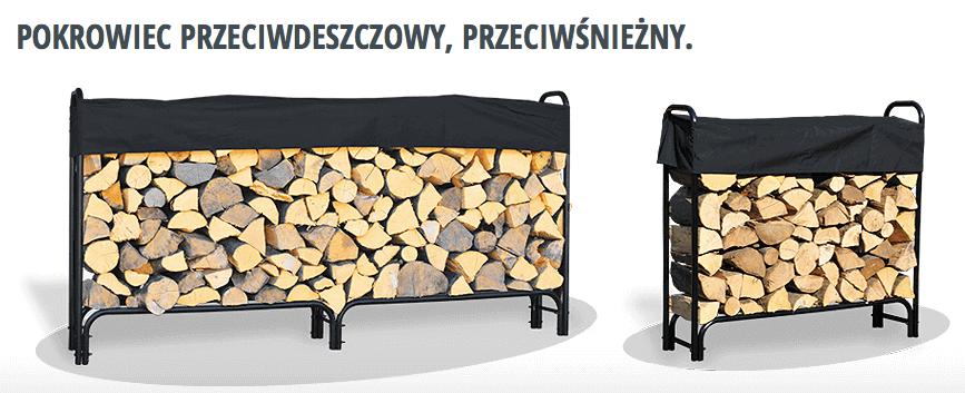 Pokrowiec przeciwdeszczowy na stojak do drewna