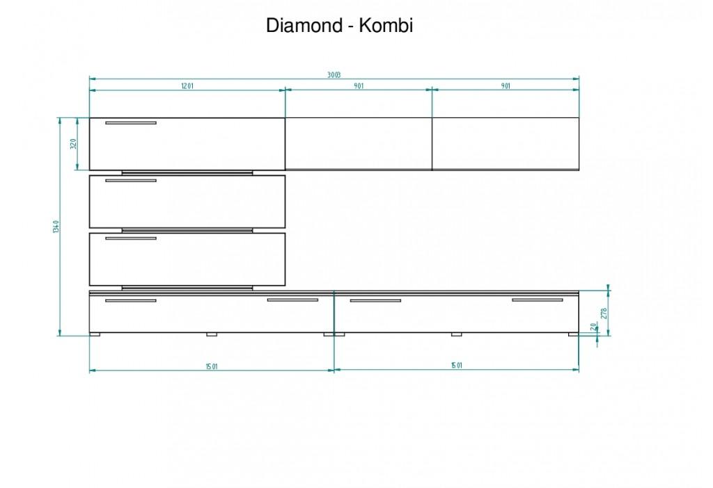 Wymiary mebli Diamond