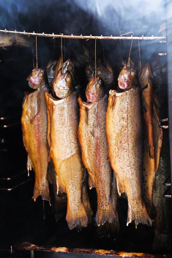 Wędzenie ryb w ogrodzie