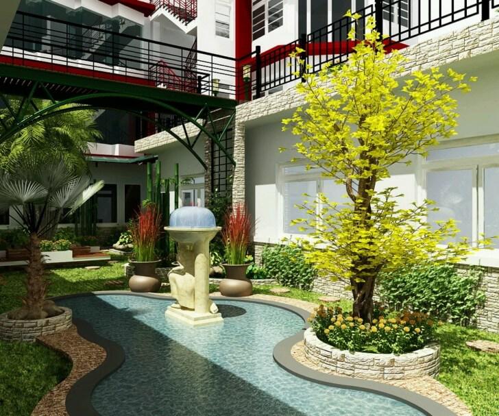 Ogród z oczkiem mieszkanie