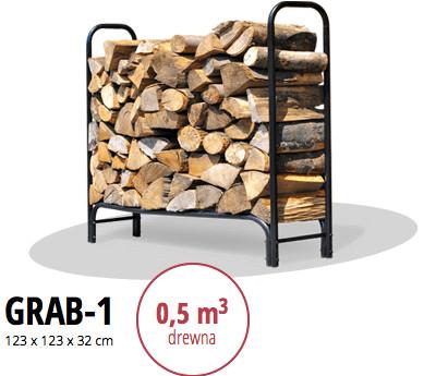 stojak na drewno kominkowe GRAB-1