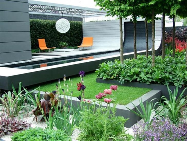 Pieknie urządzony ogród